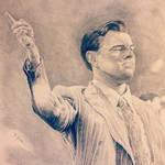 Leonardo DiCaprio as The Wolf of Wall Street