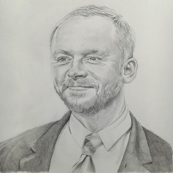 Simon Pegg by PatrickRyant