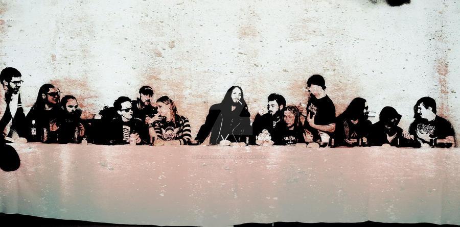 graffiti last supper by PaintedBlack101