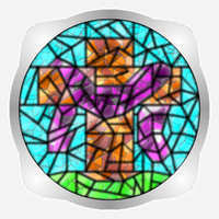 Stained Glass Cross Take 3 by uguardian