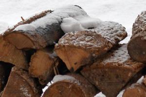 Iced Firewood by uguardian
