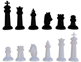 Chess Pieces by uguardian