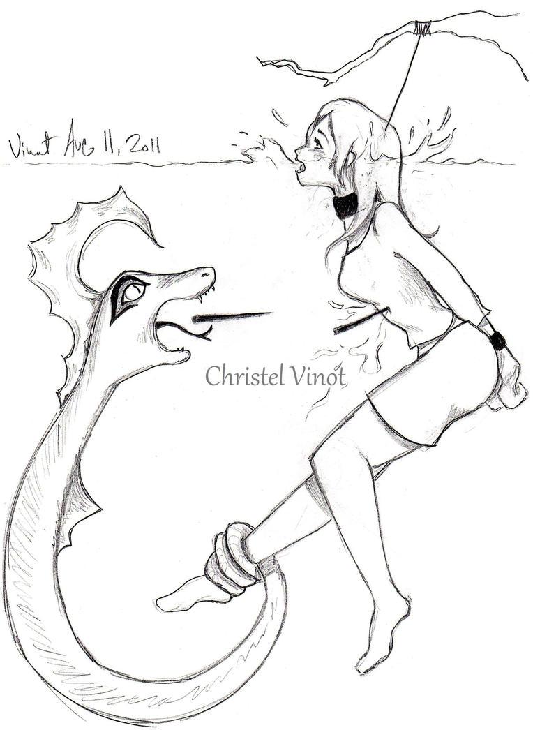 Uncategorized Sea Creatures Drawing death by evil sea creature torture christelvinot on deviantart christelvinot