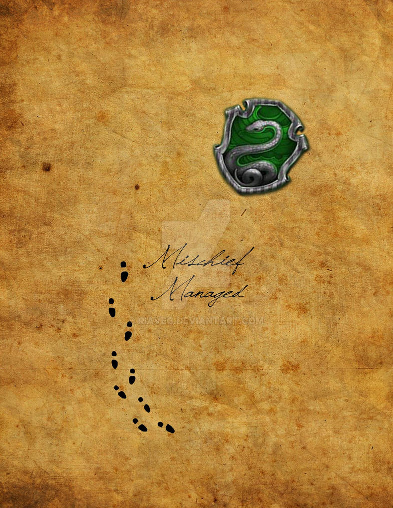Slytherin Marauders Map IPhone Design By RiaVeg