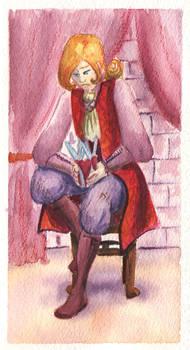 King watercolor