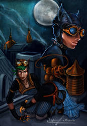 Steampunk Catwoman by AnjeanetteIllios