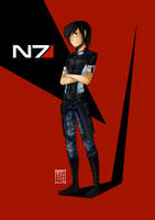 Mass Effect: Custom Commander Shepard by Tripower