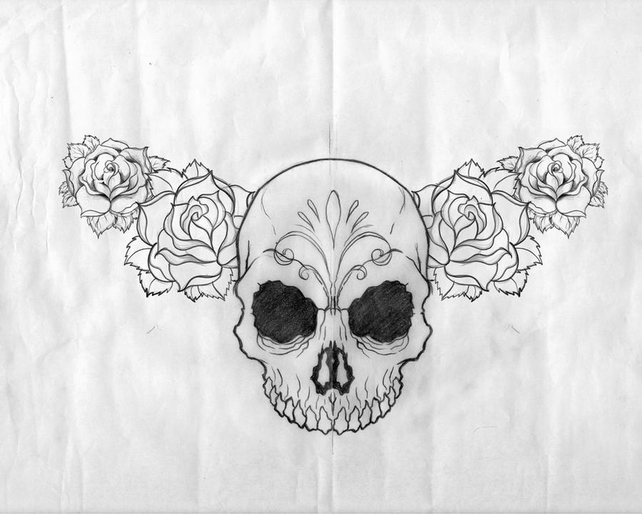 Black And White Sugar Skull Designs Sugar Skull Tattoo Design by