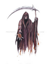 The Grim Reaper - Painted with Wine by Paintedwithwine