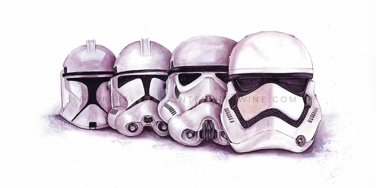 Wine Art: Evolution Of The Stormtrooper by Paintedwithwine