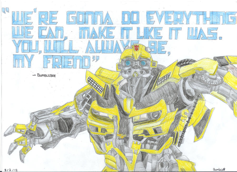 Transformers 2 I Love You Quote : Bumblebee Dark of the Moon Quote by Bumble217 on deviantART