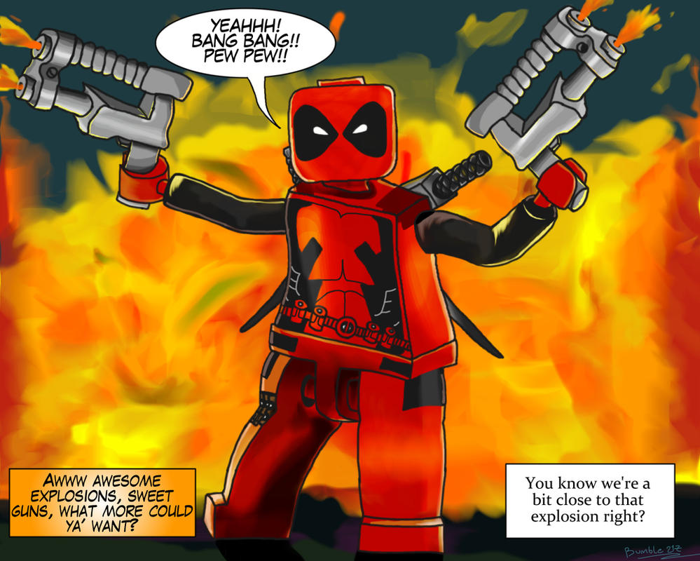 lego deadpool explosions by bumble217
