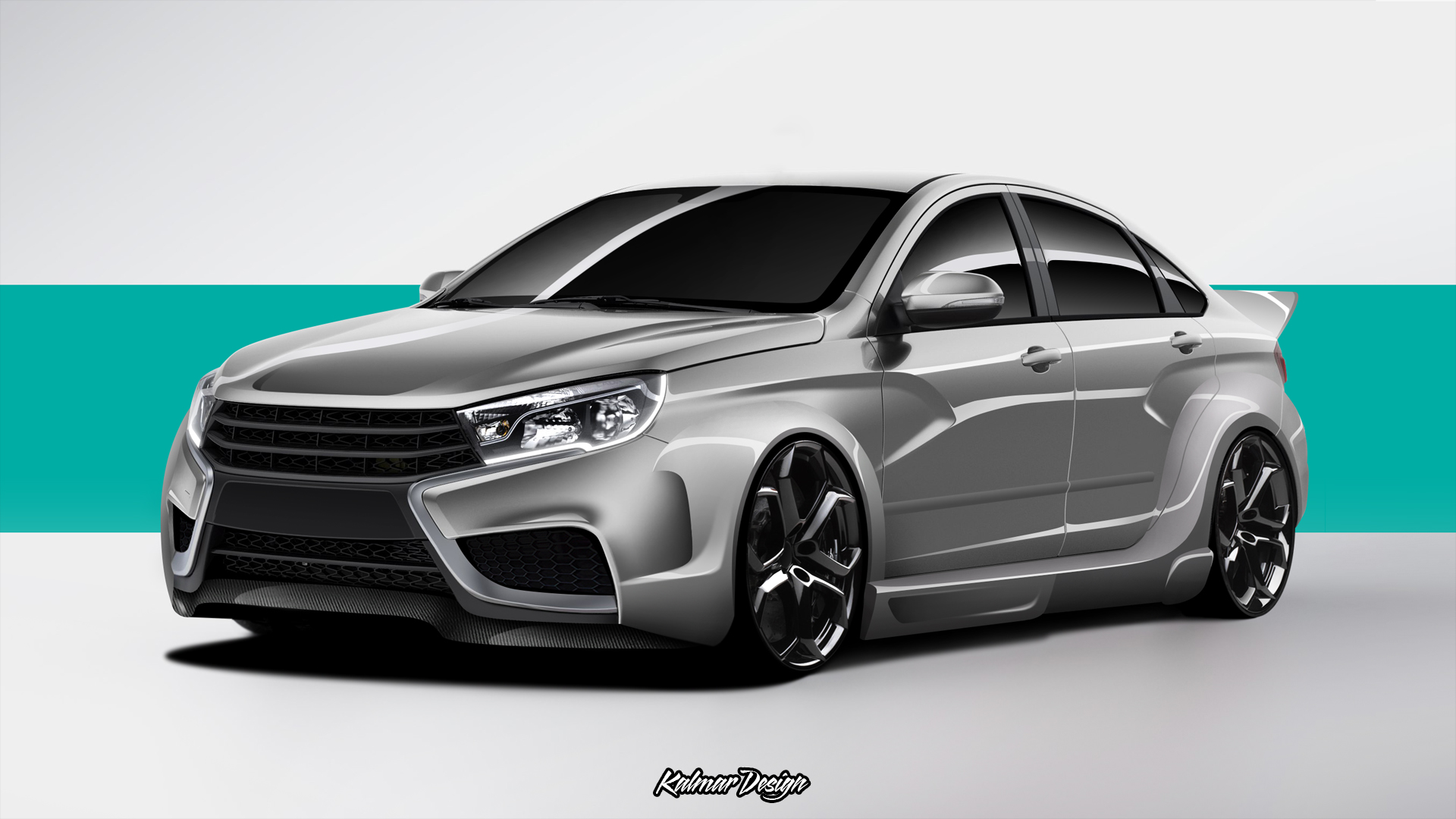virtual tuning lada vesta by kalmardesign on deviantart