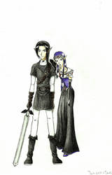 Dark Link and Dark Zelda by shadowzabimaru