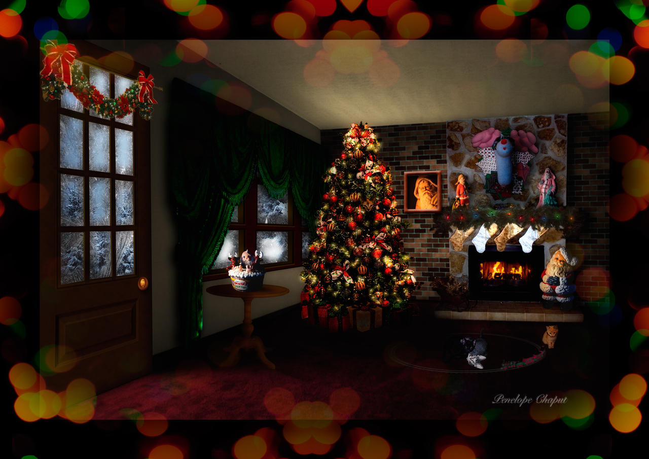 Christmas Interior Design by Pennes-from-Heaven on deviantART