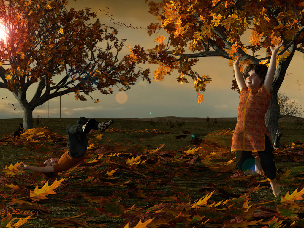 Autumn Frolics by Pennes-from-Heaven