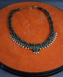 Kumihimo collar Necklace