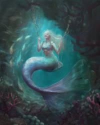 My cousin as a mermaid
