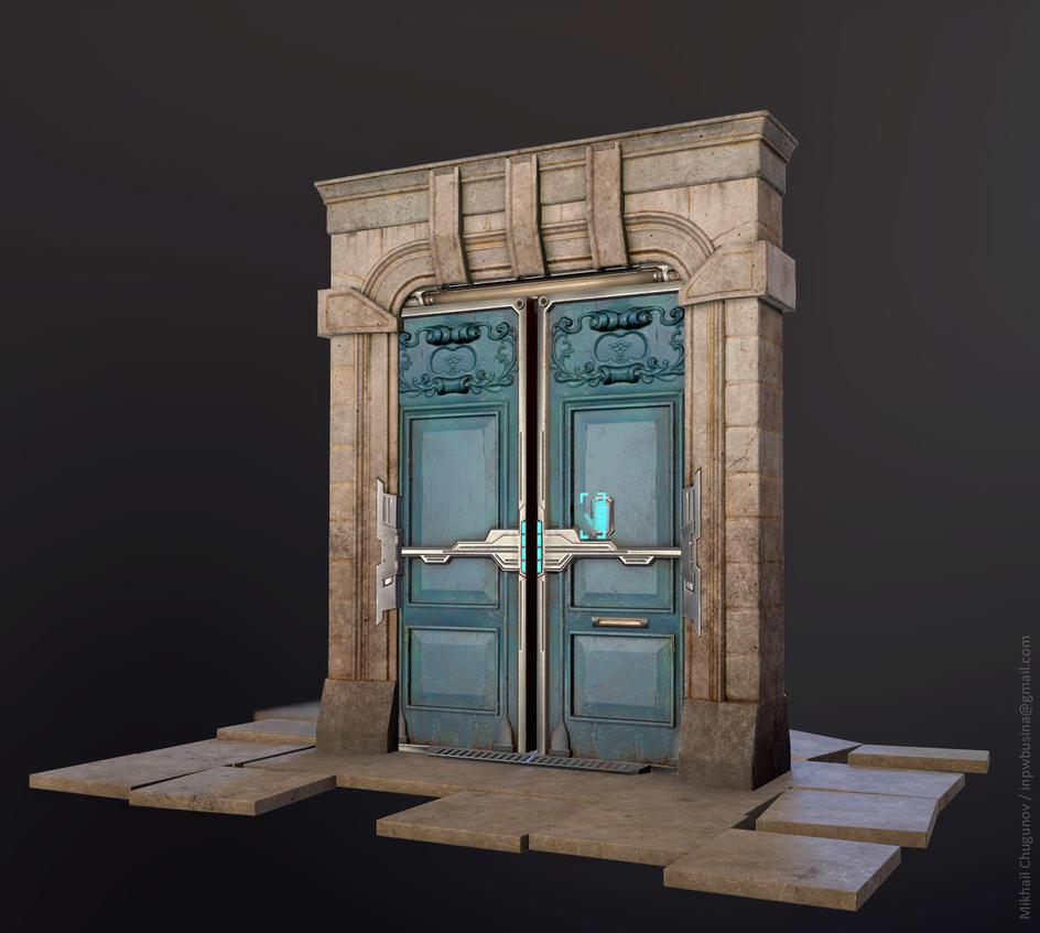 Neo Paris Door (fan art) by Busina