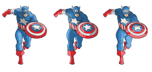 Captain America coloring exercise