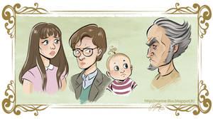 Baudelaire orphans portraits