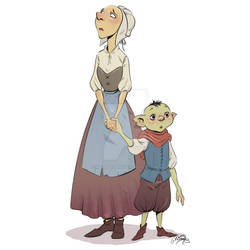 Mother and her goblin son