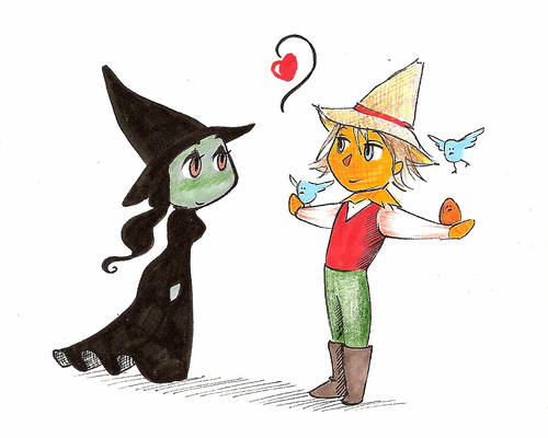 the green and the scarecrow