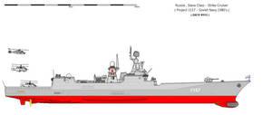 Project 1157 Slava class cruiser