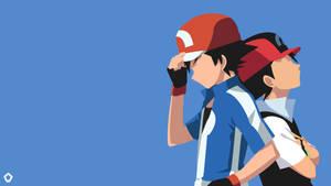Ash Ketchum|Pokemon |Minimalist Wallpaper