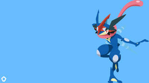 Ash's Greninja|Pokemon|Minimalist Wallpaper(4K)