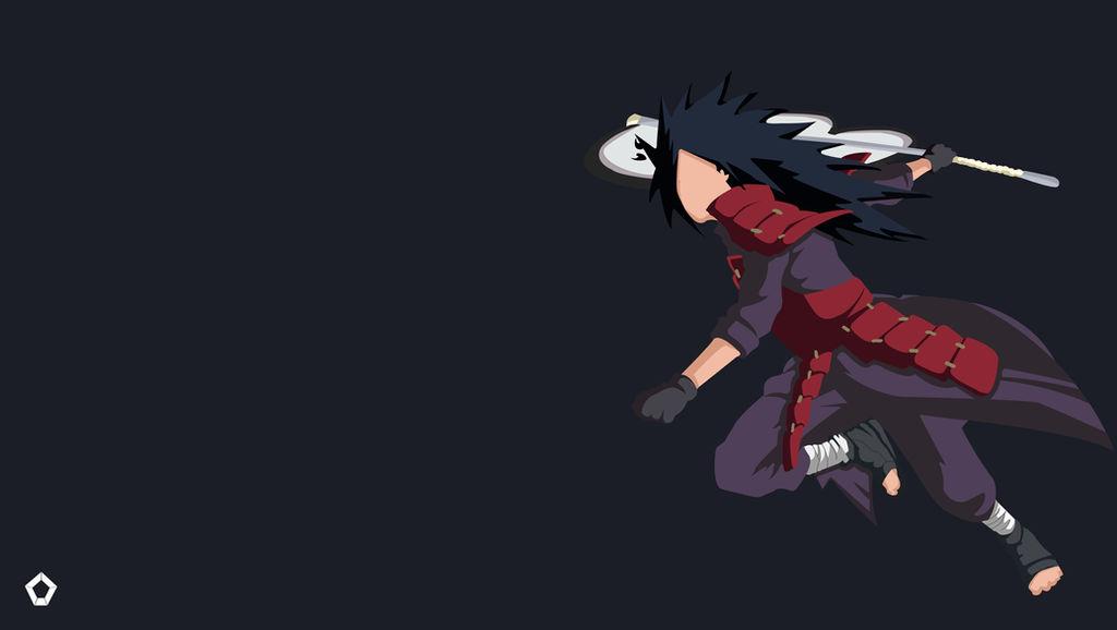 Uchiha Madara|Naruto |Minimalist Wallpaper 4K by ...