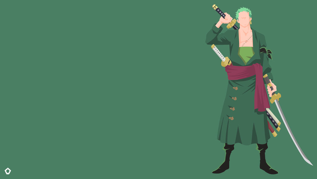 Roronoa Zoro One Piece Minimalist Wallpaper 4k By Darkfate17 On Deviantart