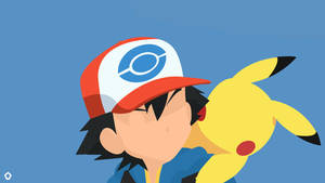 Satoshi and Pikachu Minimalist by Darkfate17