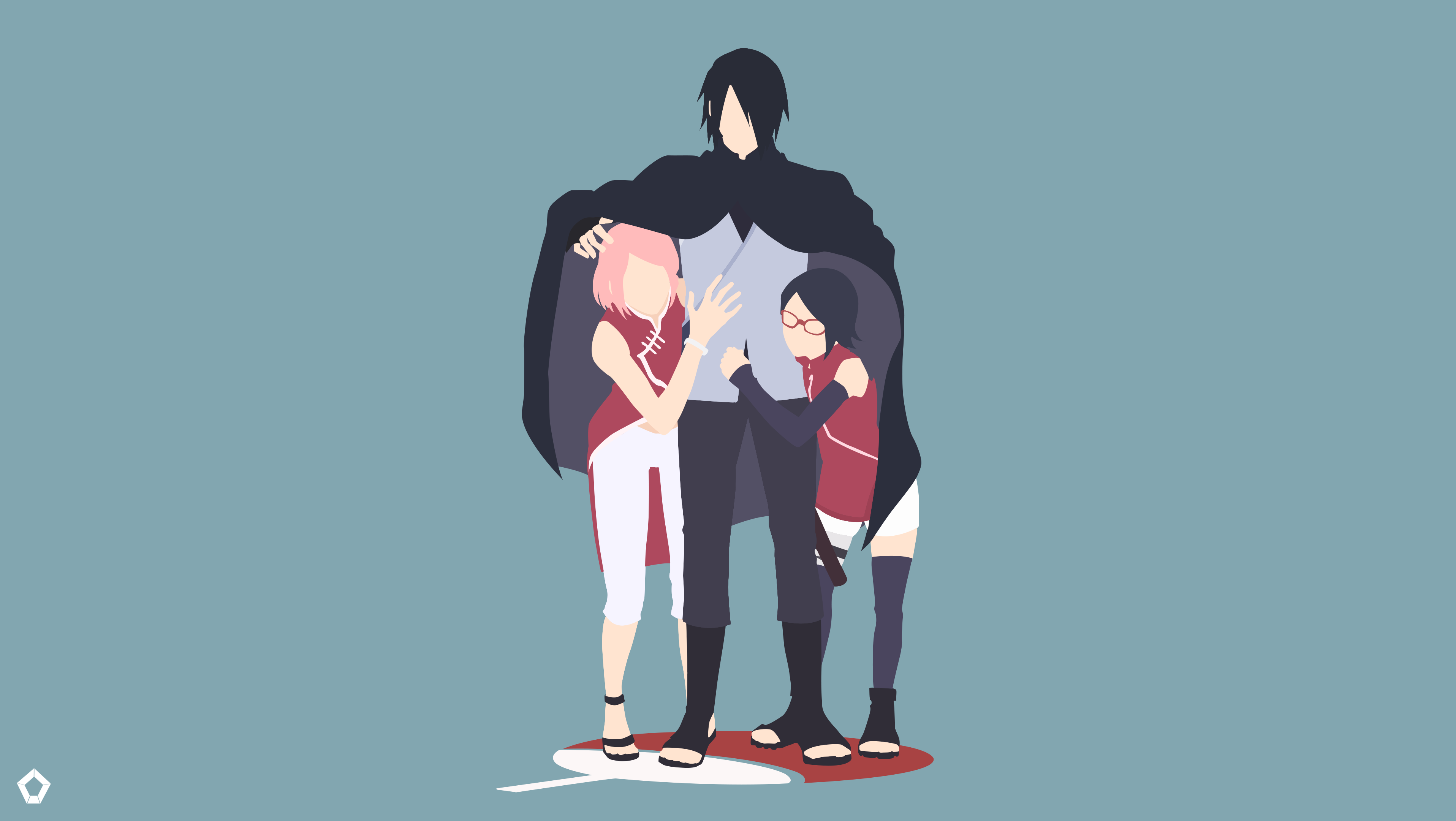 Uchiha family naruto minimalist by darkfate17 on deviantart for Minimal art family