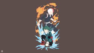 Izuku and Shouto BnHA Vector by Darkfate17