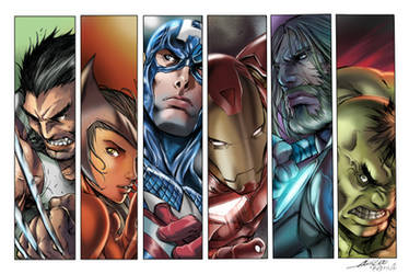 The Avangers Colors by ColoristKamui