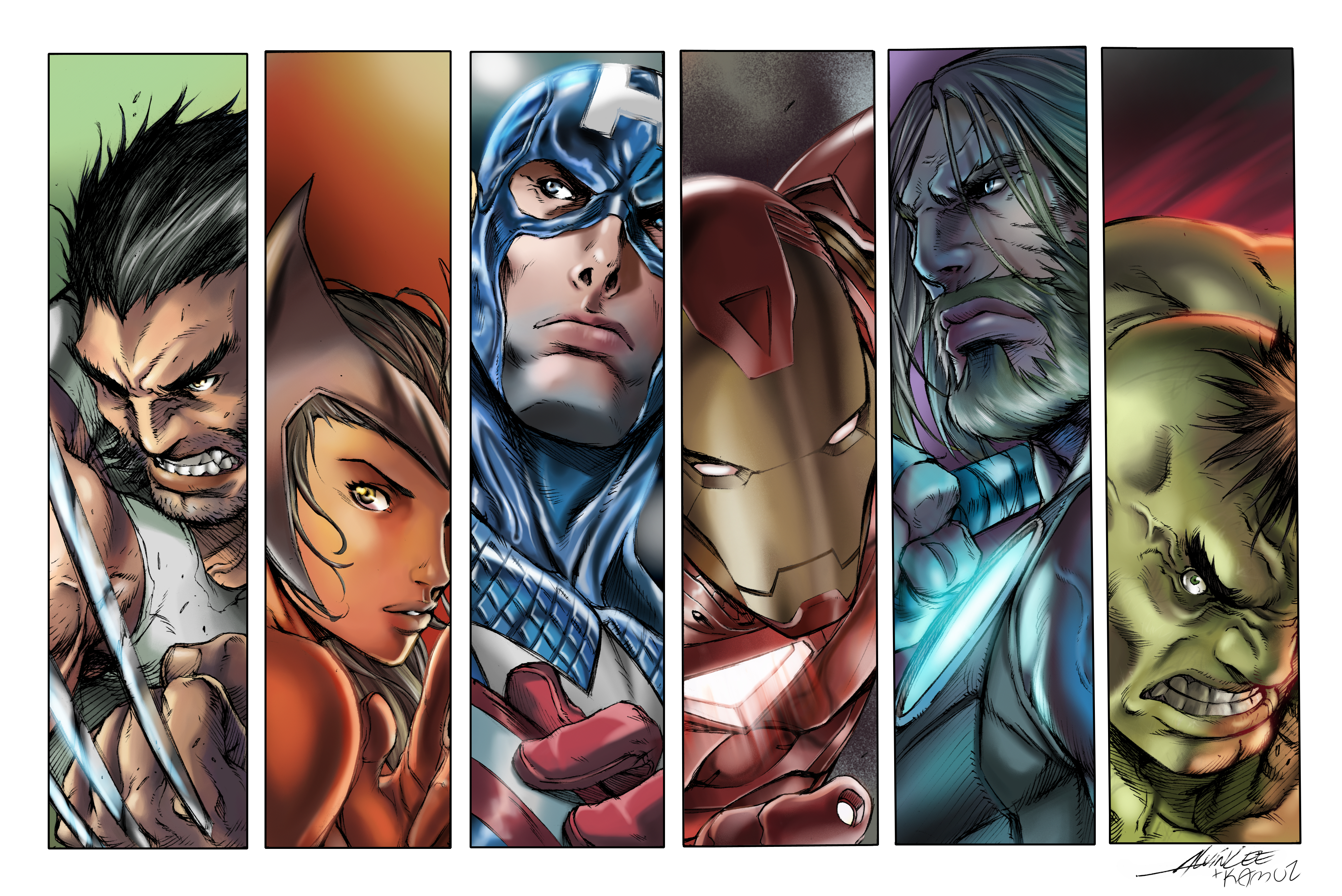 The Avengers Colors by Colorist Kamui