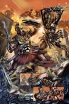 Tony and Cleo -Battle Scene- by ColoristKamui