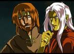 Tanis and Raistlin