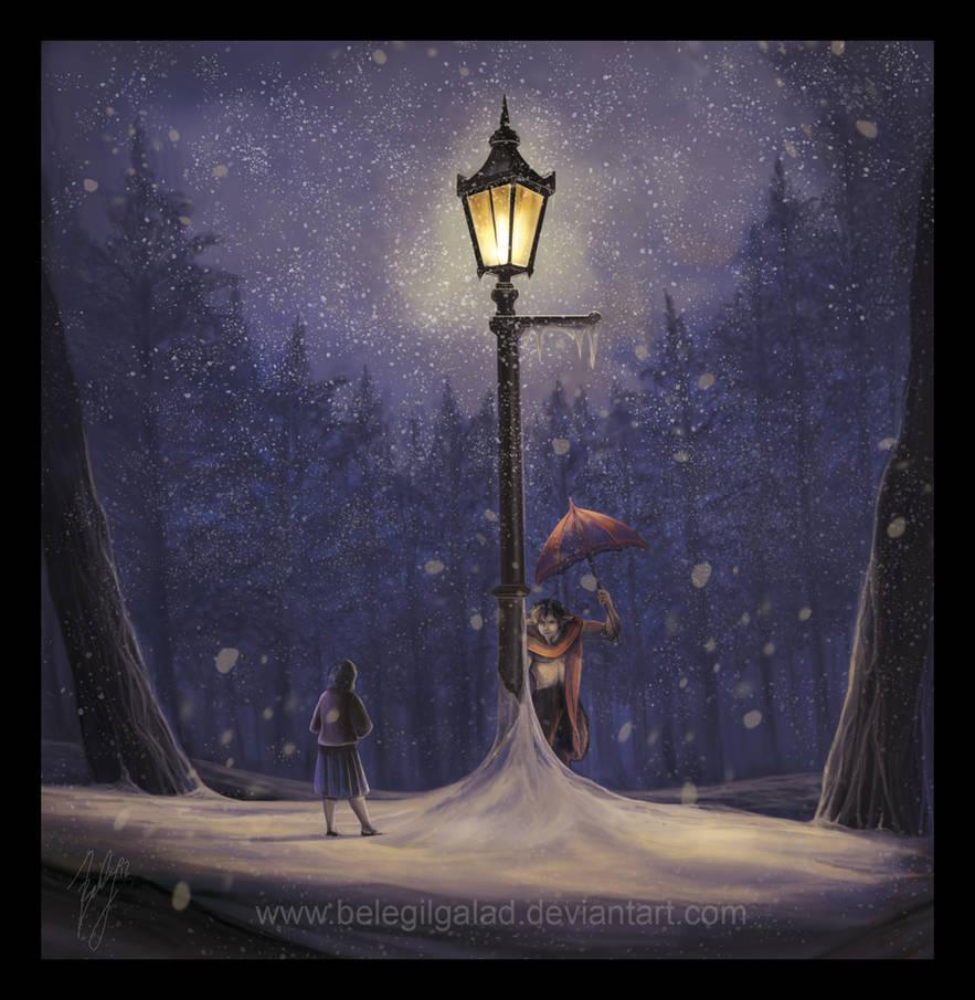 Meeting under the lamp post by Belegilgalad