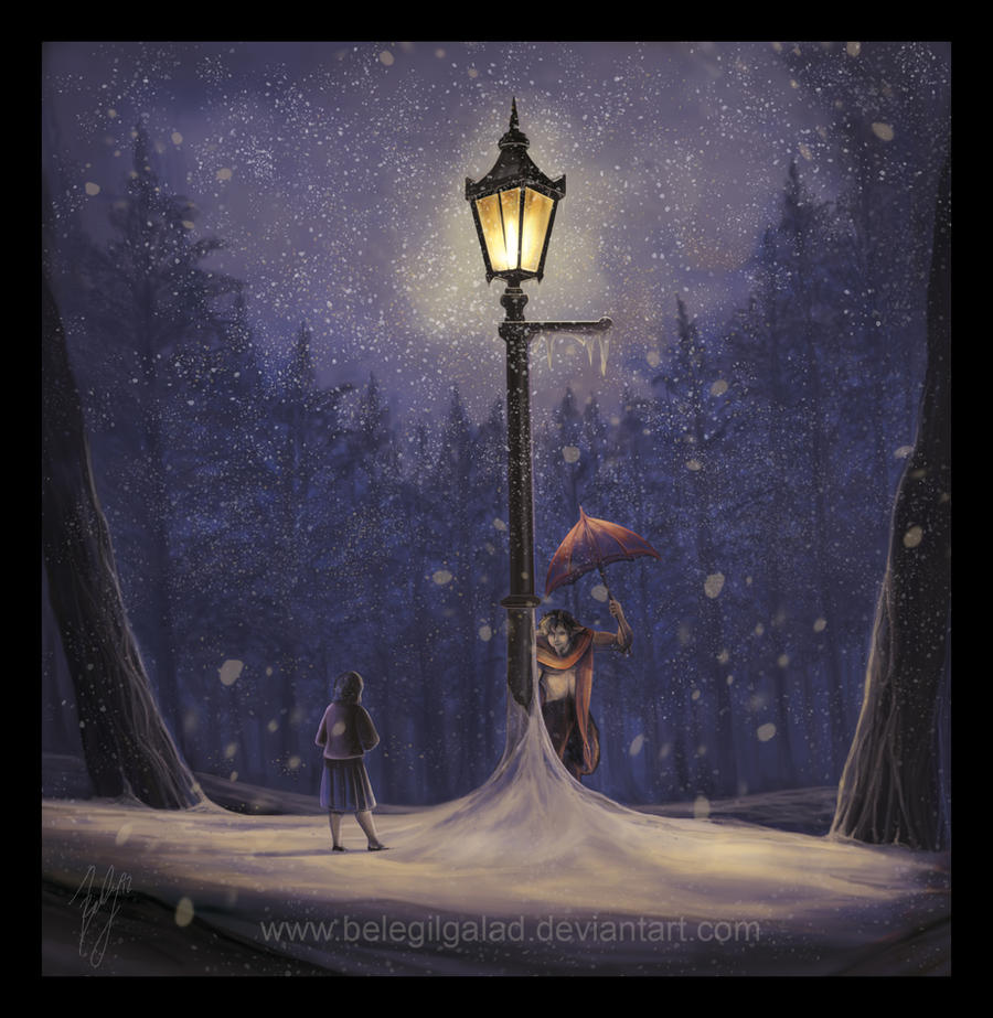Meeting under the lamp post by Belegilgalad on DeviantArt
