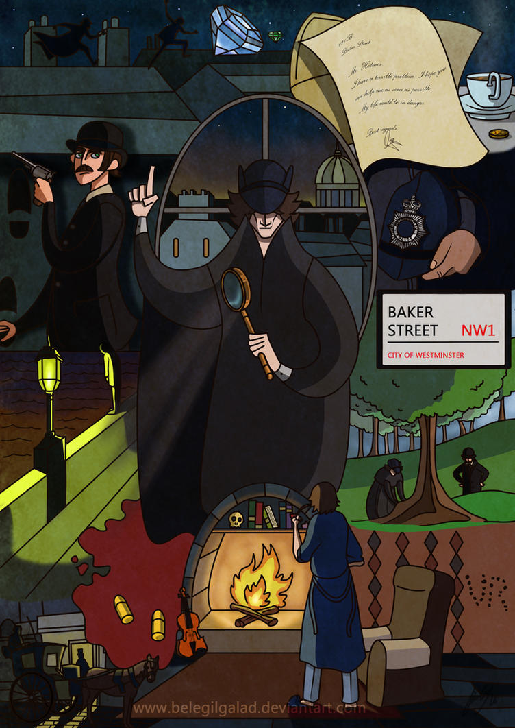 Sherlock's adventures by Belegilgalad