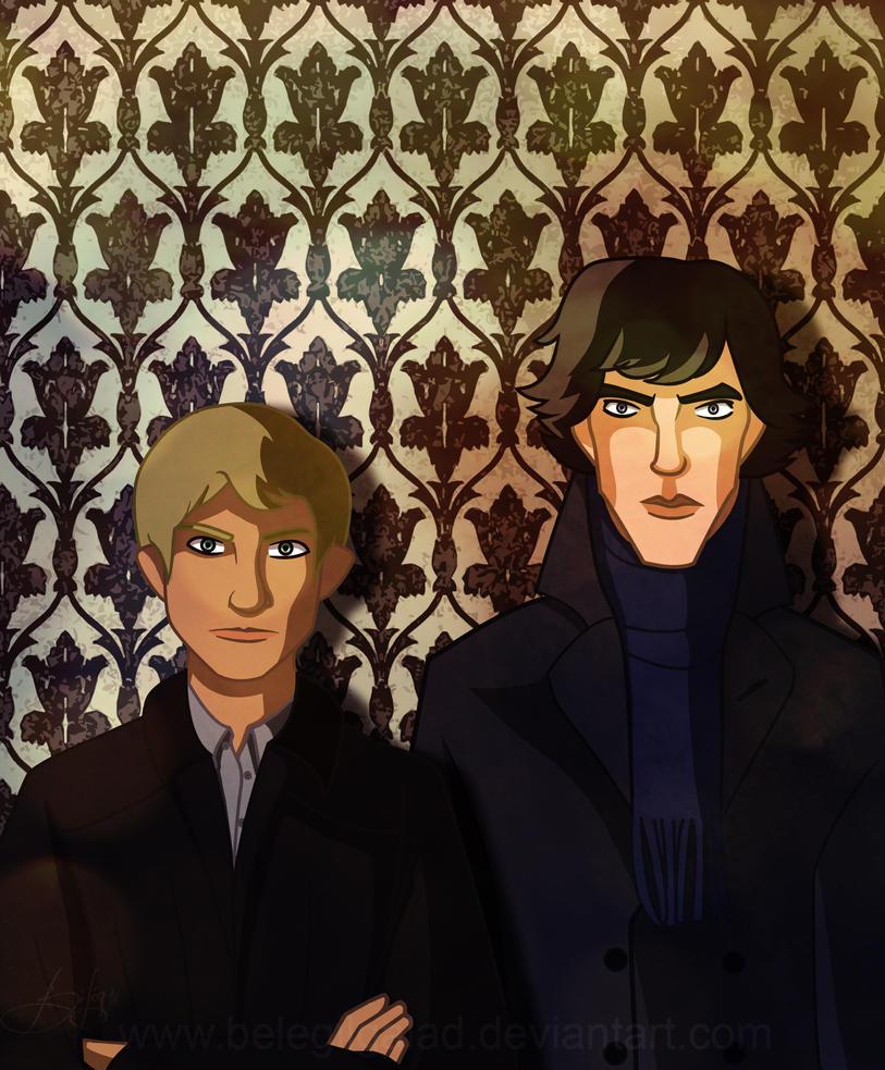 Sherlock and John by Belegilgalad