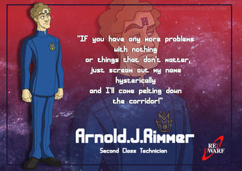 Arnold Rimmer card by Belegilgalad