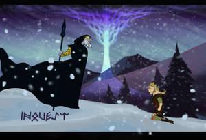 Odin appears