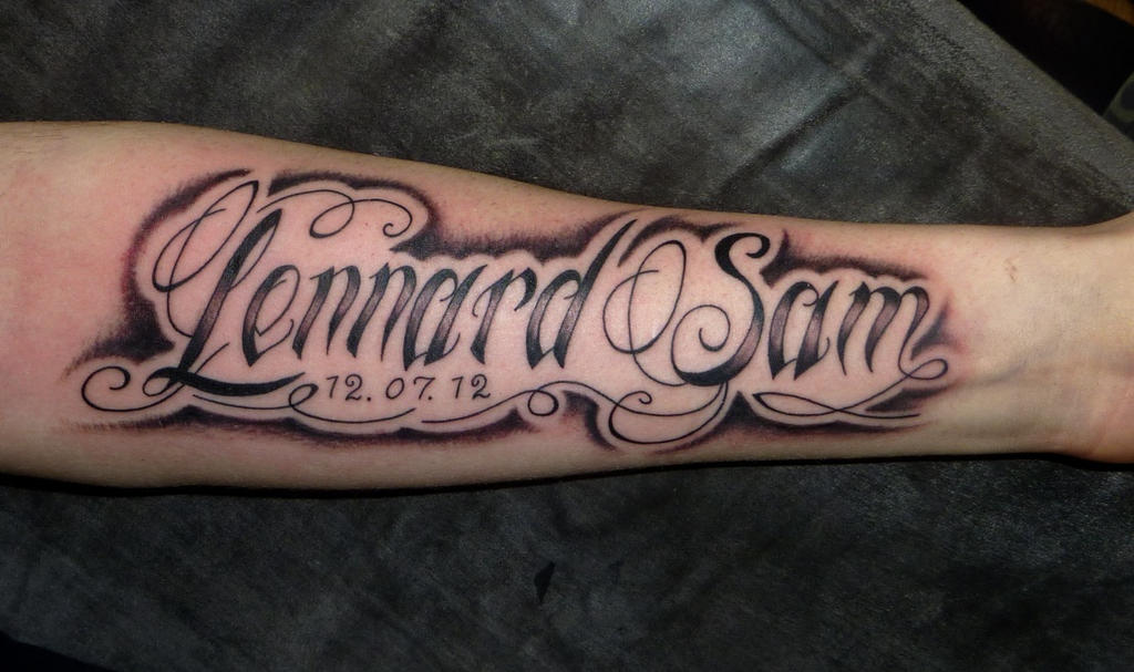 lettering tattoo by D3adFrog on DeviantArt