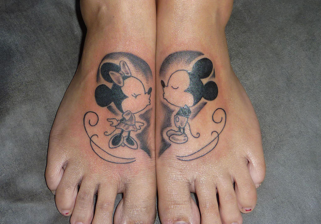 mickey And Minnie tattoo ByMickey And Minnie Mouse Matching Tattoos