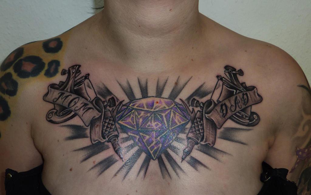 Diamond Chest Tattoo: Diamond Tattoo Machines Chest By D3adFrog On DeviantArt