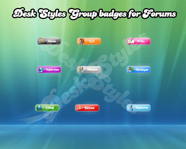 Desk Styles Vista Forum badges by ranadeep