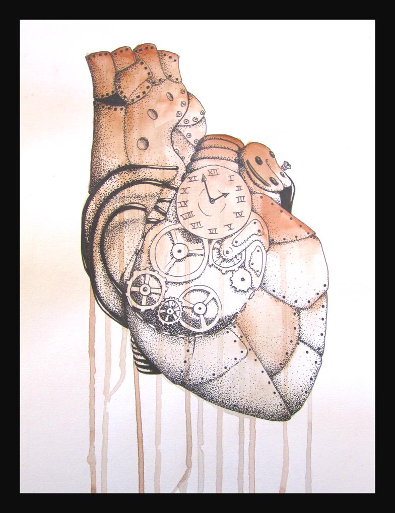 Steampunk Heart Drawings Steampunk Heart Drawing
